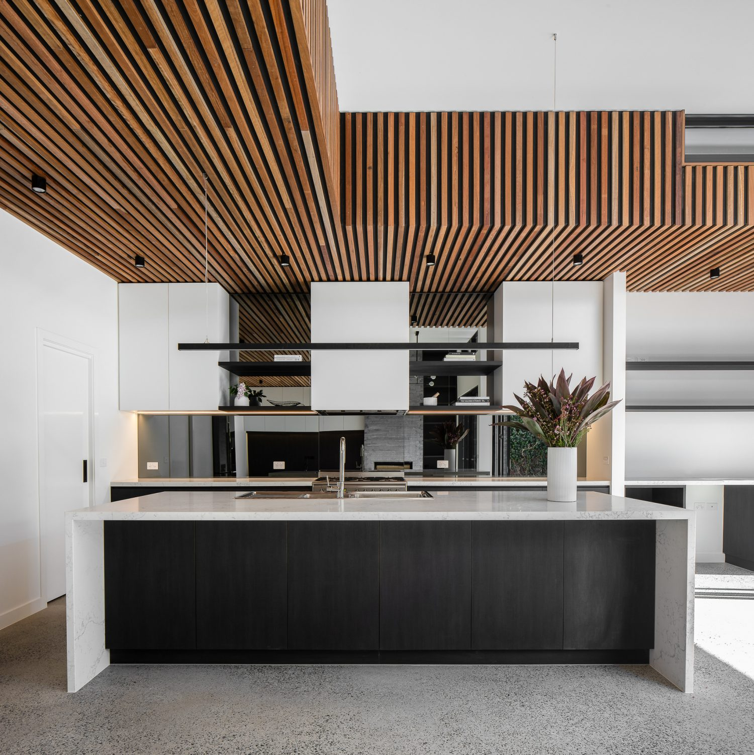 Modern Kitchen Design With Timber Feature